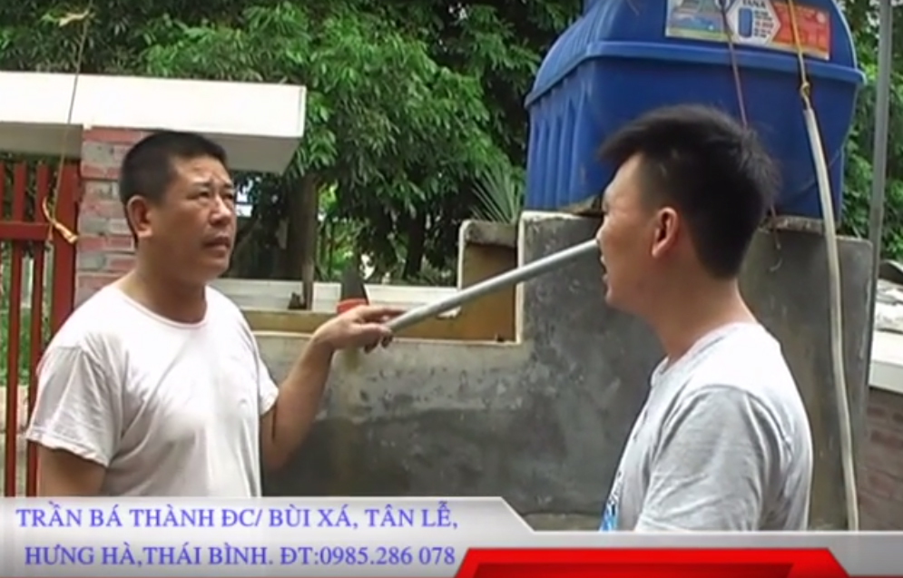 Máy xử lý nước MET 02 tại gia đình ông Trần Bá Thành