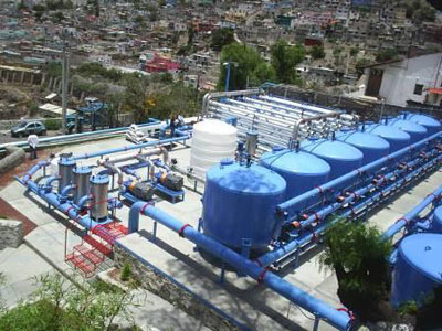 Xử lý nước giếng khoan nhiễm phèn