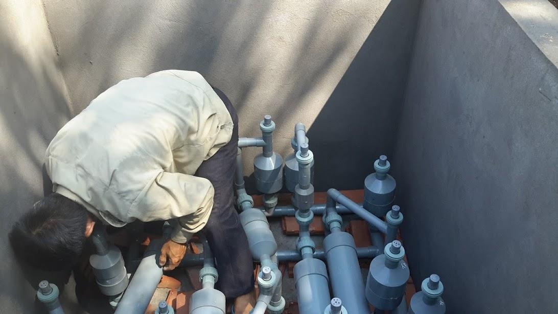 hình ảnh lắp ráp hệ thống xử lý nước MET