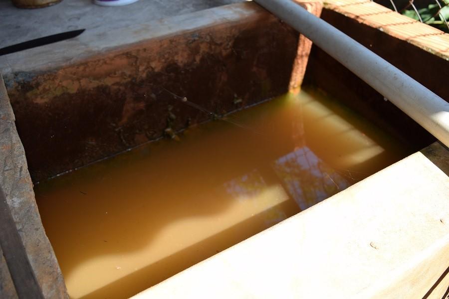 nước giếng khoan chưa qua xử lý
