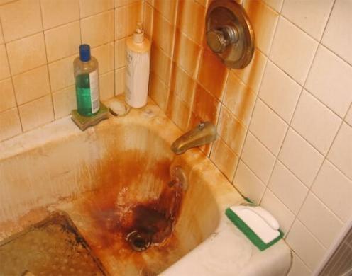 tác hại của nước nhiễm sắt