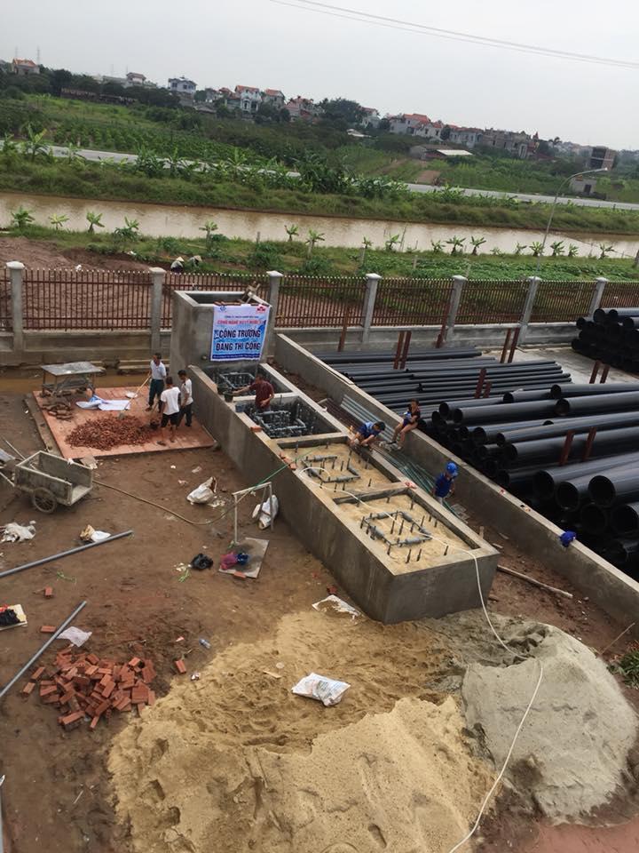 hệ thống xử lý nước thải sinh hoạt công nghệ MET tại Công ty DISMY