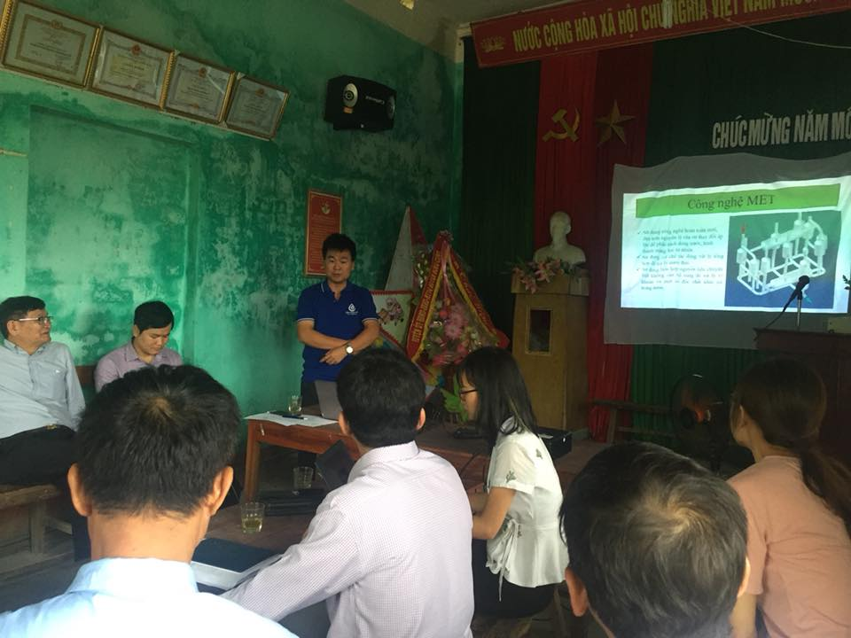 Công nghệ MET làm việc tại xã Tề Tân, Huyện Nông Cống, tỉnh Thanh Hóa