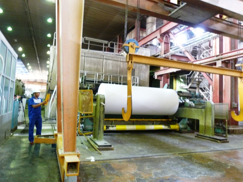 Quá trình sản xuất giấy