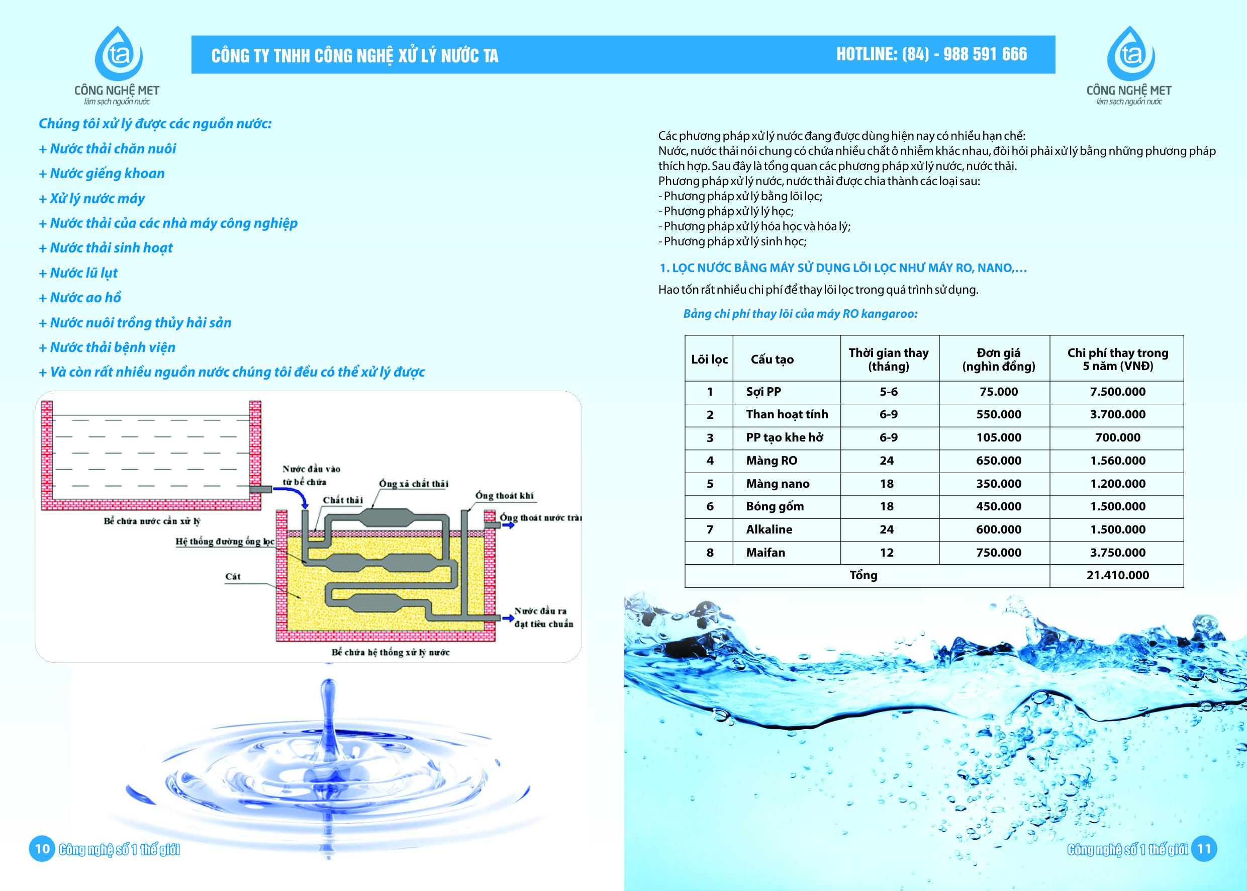 Thiết kế hệ thống xử lý nước cấp bằng Công nghệ MET