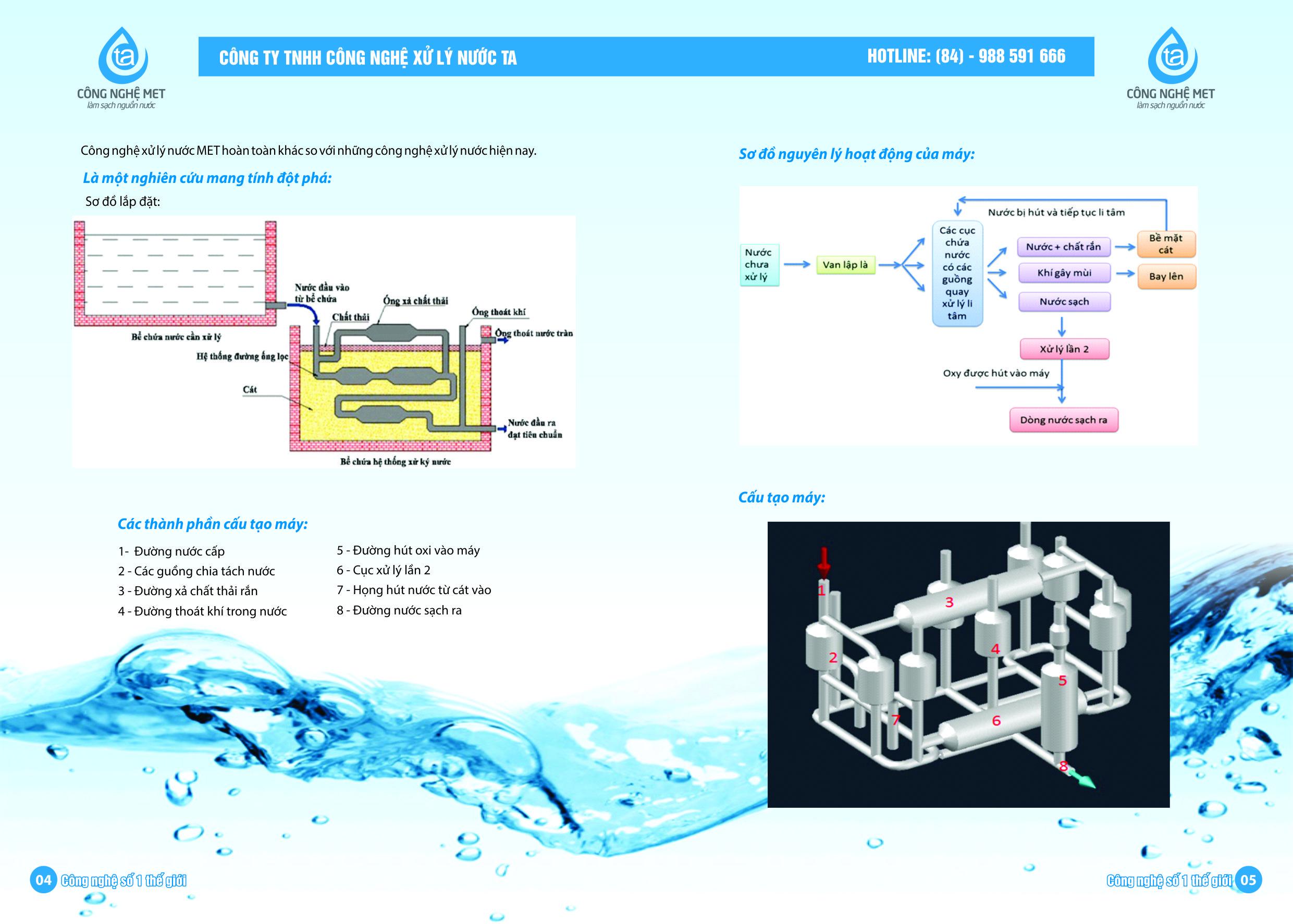Xử lý nước cấp cho sinh hoạt bằng Công Nghệ MET