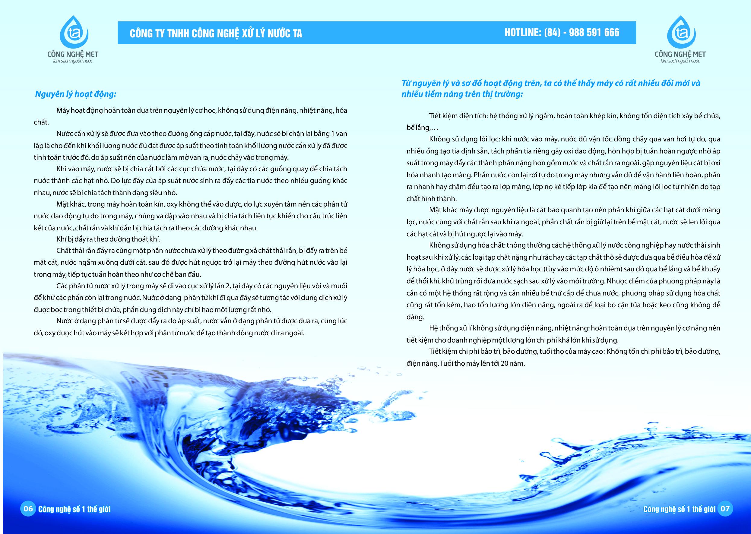 Xử lý nước nhiễm dầu Công Nghệ MET