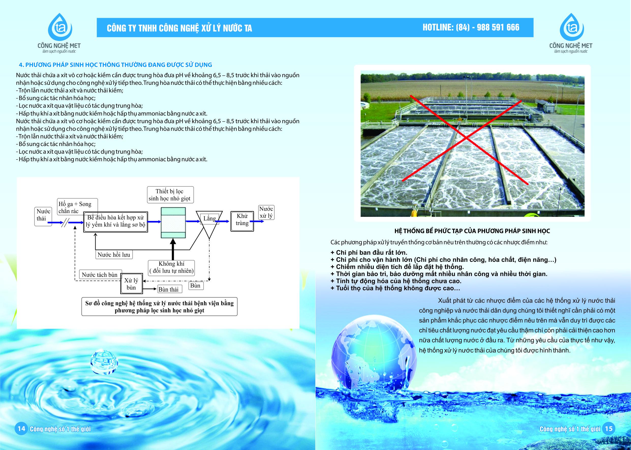Nồng độ chất ô nhiễm trong nước thải sinh hoạt