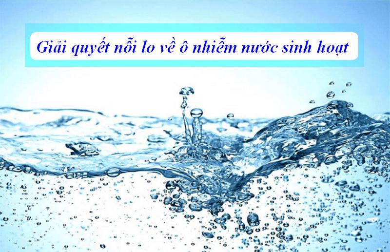 Giải quyết ô nhiễm nước thải sinh hoạt
