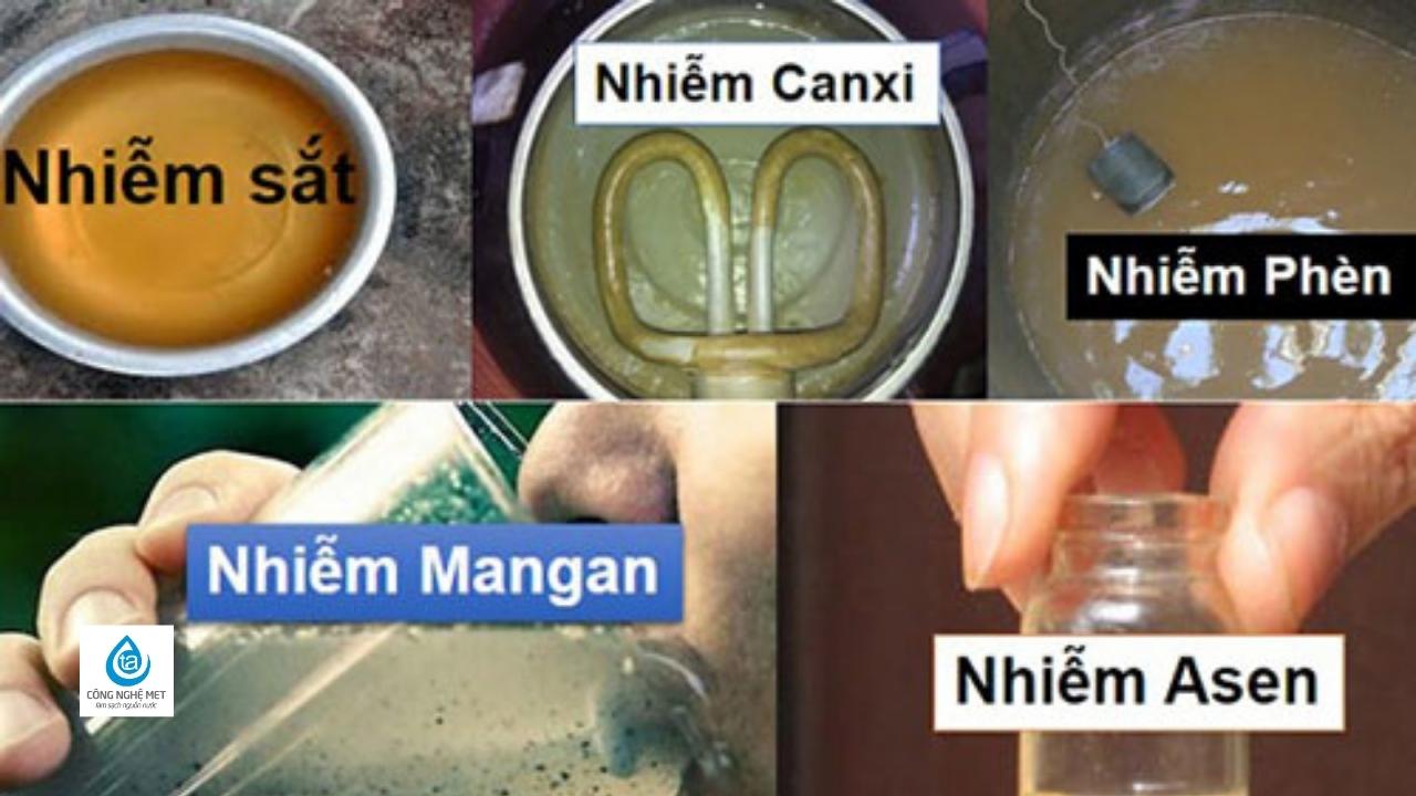 Nước giếng khoan nhiễm kim loại nặng