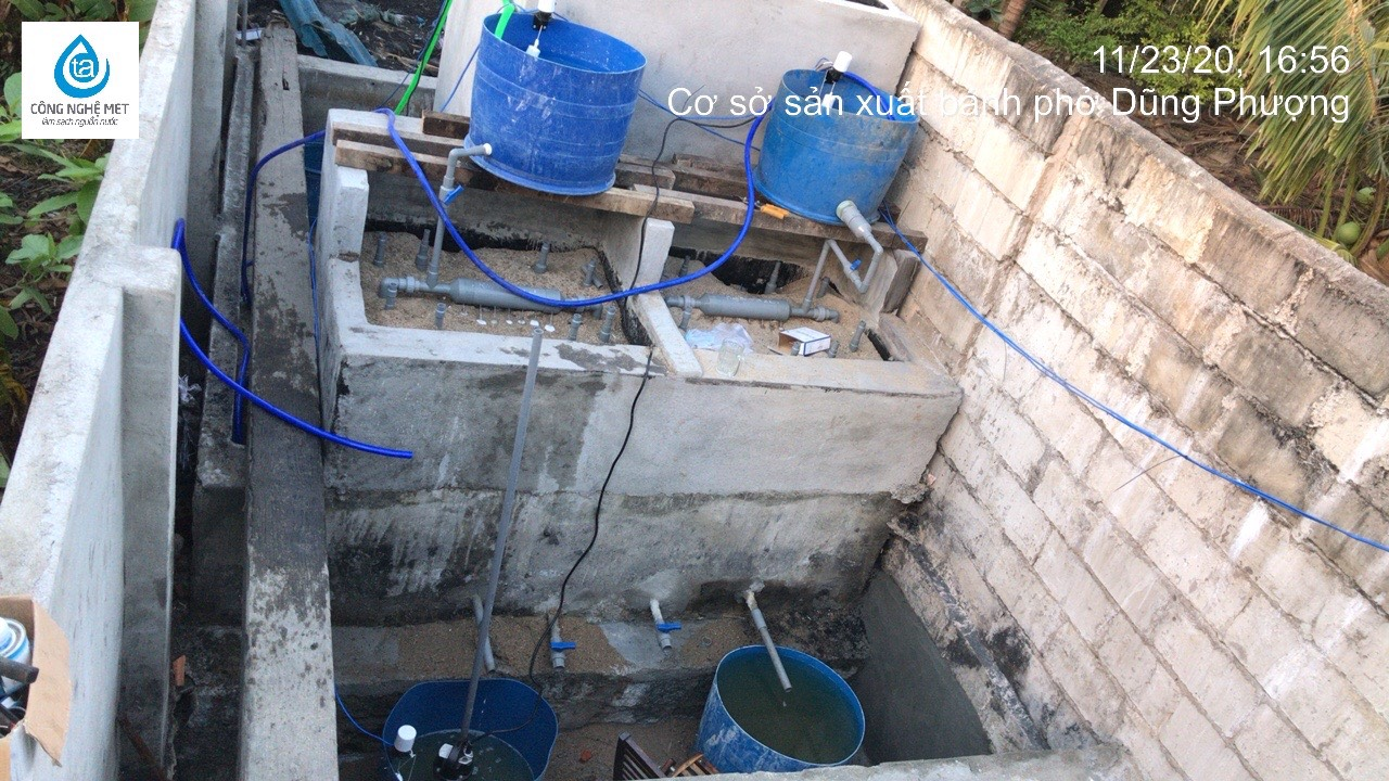 Xử lý nước cơ sở sản xuất bún, bánh phở ở khu vực Hà Nội và tỉnh lân cận