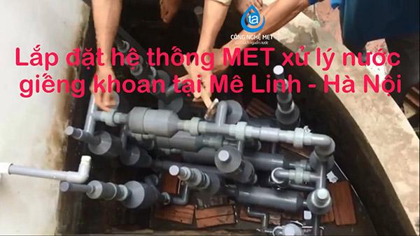 Xử lý nước giếng khoan tại Mê Linh – Hà Nội