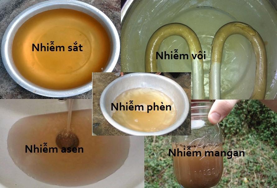 Tại sao nước giếng khoan có mùi hôi tanh, váng vàng