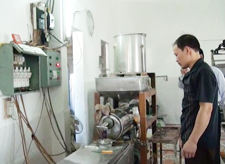 Sản xuất bún truyền thống