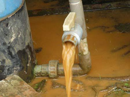 Các nguyên nhân khiến nước giếng khoan bị ô nhiễm