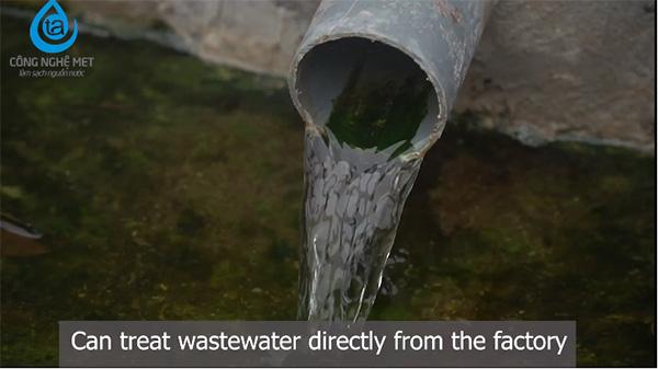 Nước qua xử lý bằng công nghệ met